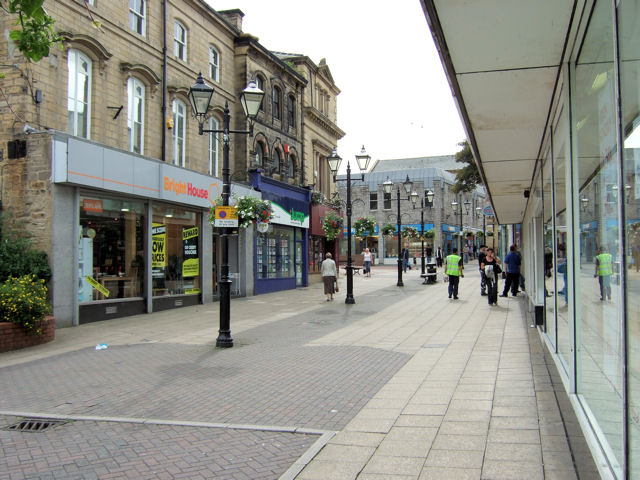 Keighley - Low Street, shops