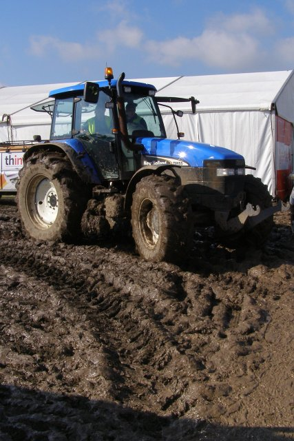 Tractor in the mud at the New Forest Show 2007, New Park