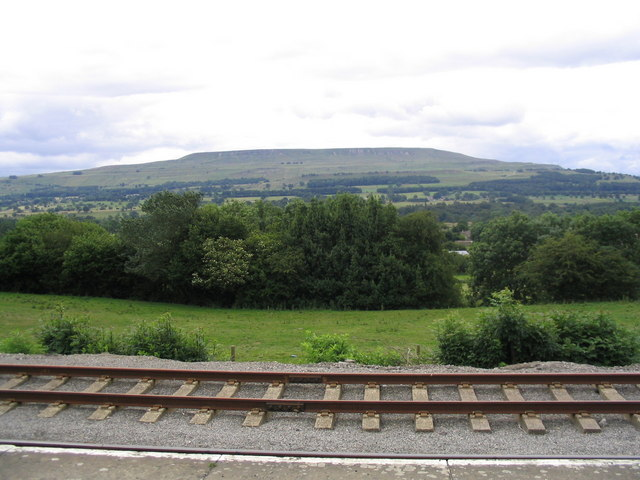 View over Wensleydale from Redmire railway station