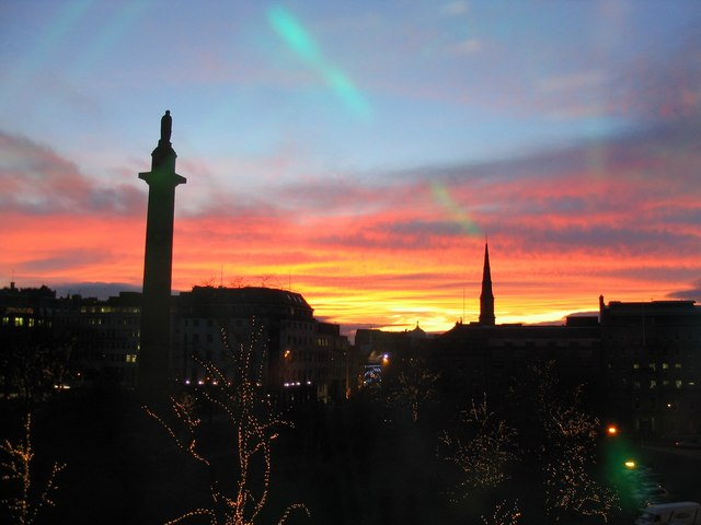 Christmas sunset from Harvey Nicks