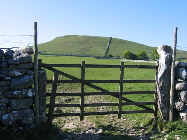 Field Gate and view to Cawden