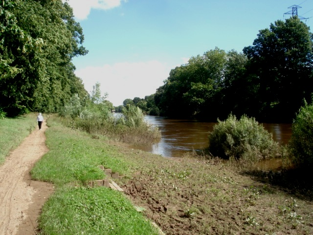 Riverside path at Pitchcroft