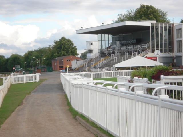 Grandstand at Worcester Racecourse