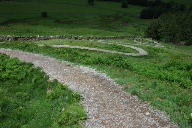 Footpath above the NT campsite in Great Langdale