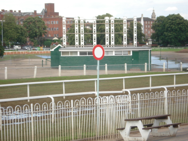 Winning Post at Worcester Racecourse