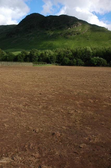 Bare field in Great Langdale