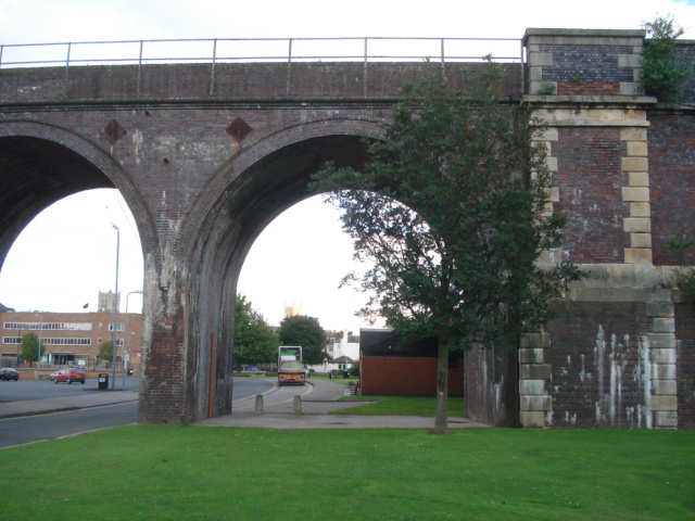Worcester railway viaduct
