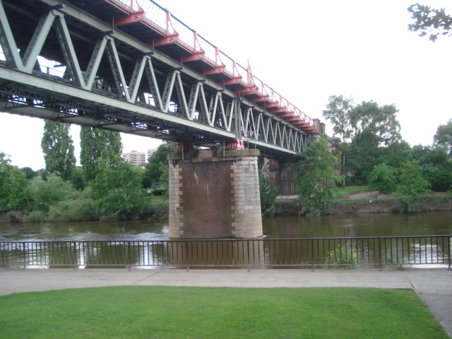 Railway bridge over the Severn at Worcester