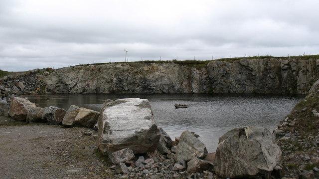 Stone quarry near Loch a Charnain