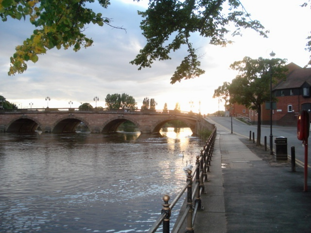 Sunset at the Worcester Bridge