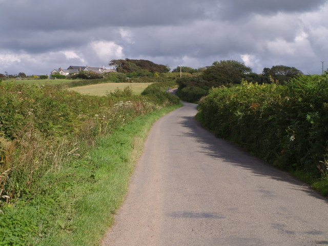 Lane approaching Hescott Farm
