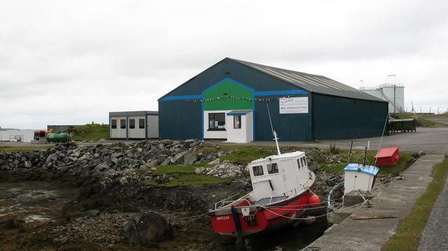 Smoked salmon factory at Sandavaig.