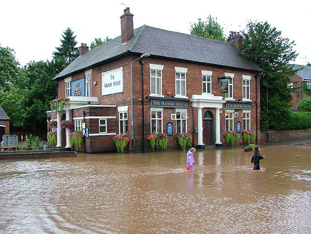 Manor House, flood of July 20th 2007