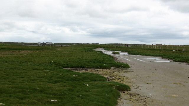 Sandy channel between two islands.