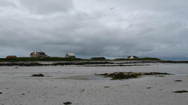 Houses along the shore.