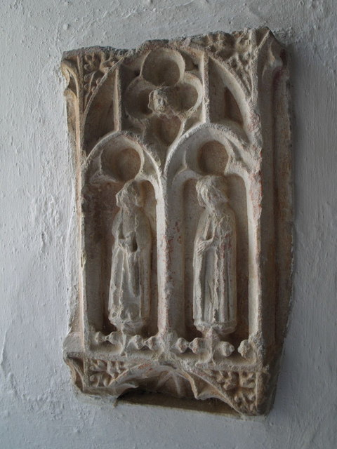 Sculpture in Hartland church