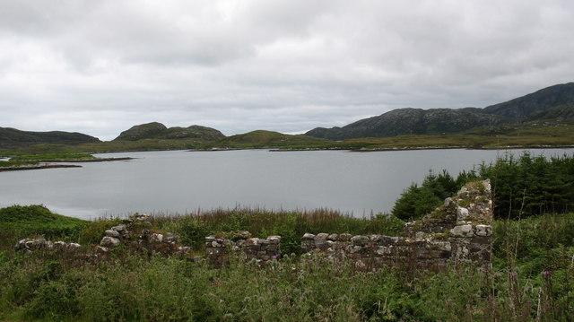 Ruin by the loch.