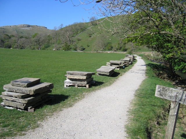 Footpath to Janet's Foss and Yorkstone Slabs
