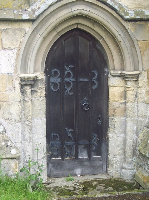 All Saints Church, Rudston - Door