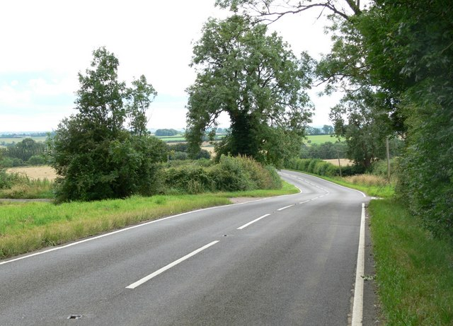 Melton Road near Shangton Grange