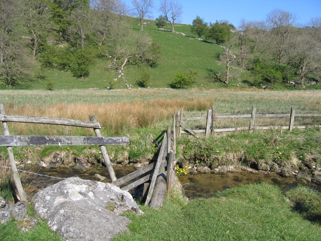 Footbridge across Gordale Beck