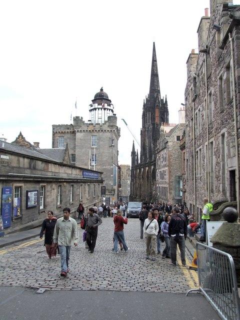 View from Castlehill, Edinburgh