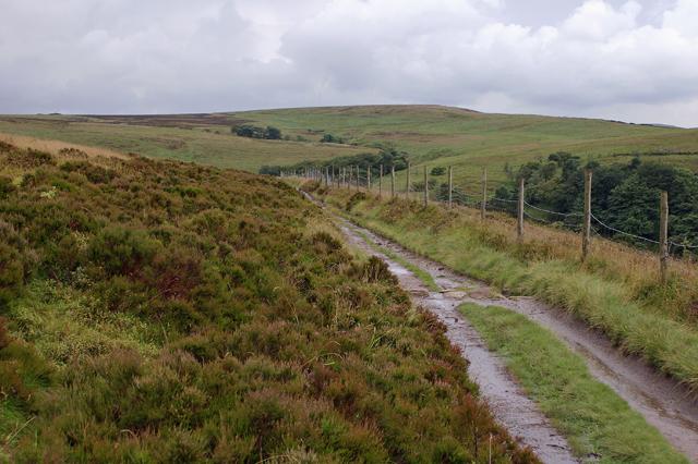 Track on Darwen Hill