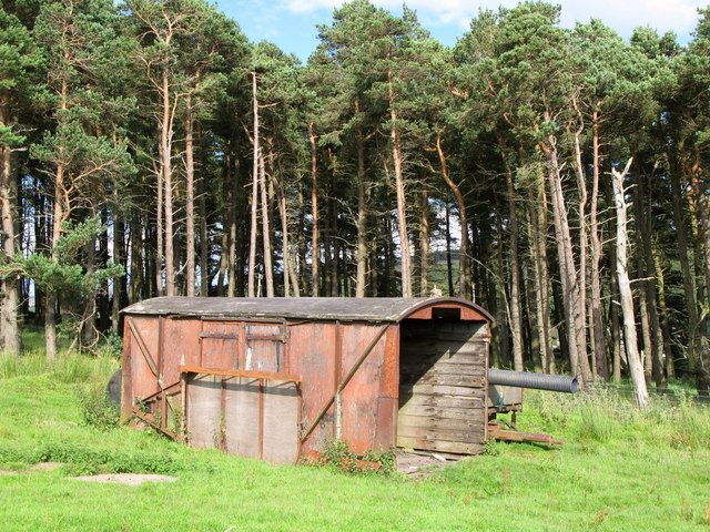 Old railway goods van, Nookton Farm