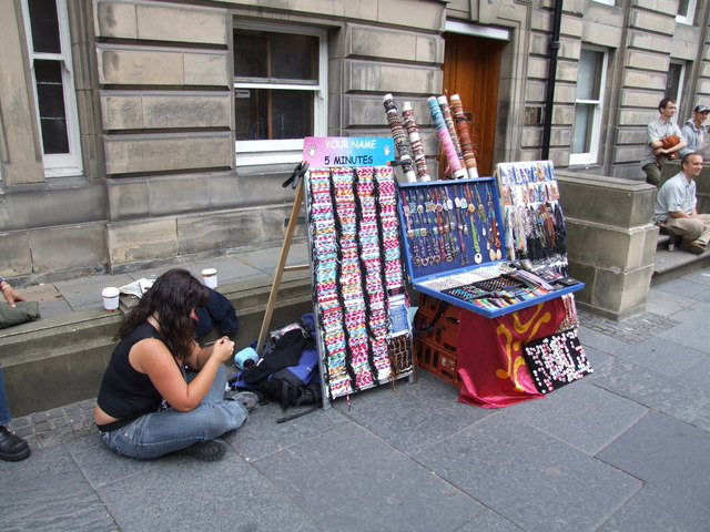Street Vendor on the Royal Mile, Edinburgh