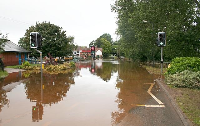 Hanley Road Under Flood Water