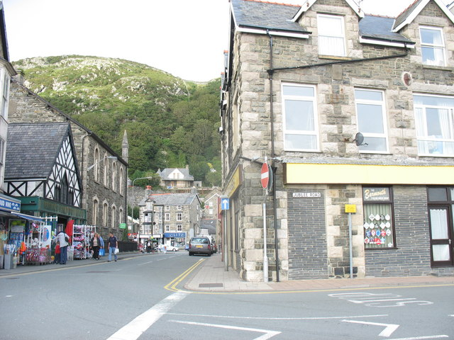 The corner of Jubilee and Station Roads, Barmouth