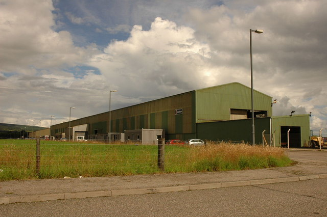 Large building in industrial estate