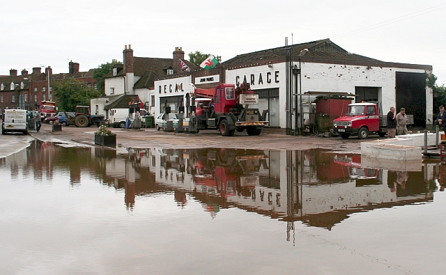 Reflections on the Regal Garage, Upton-upon-Severn