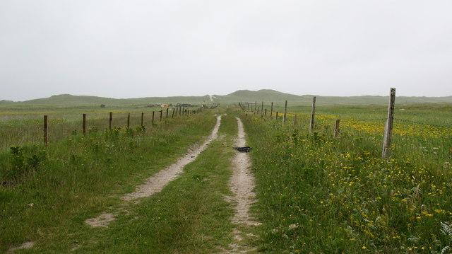 Track across the machair.
