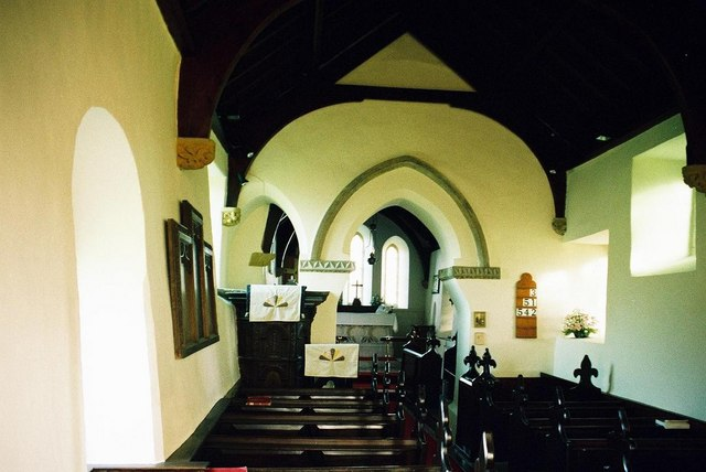 Frome Vauchurch church: interior