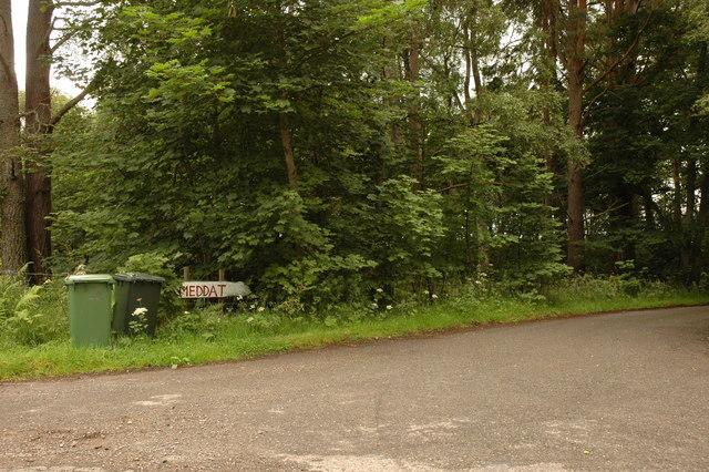 Entrance to farm road