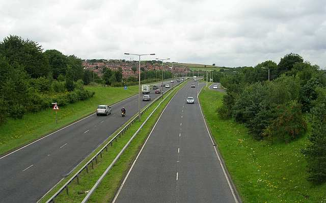 Stanningley By-Pass from Richardshaw Lane