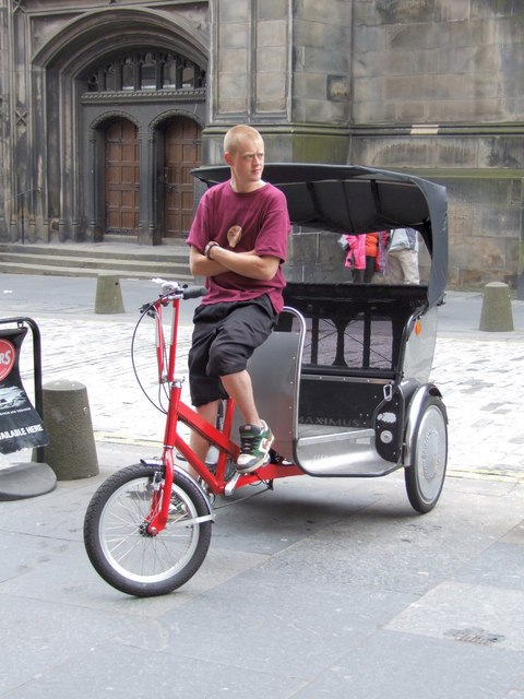 Rickshaw on the Royal Mile, Edinburgh