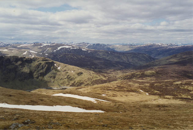 View north west from Meall Corranaich