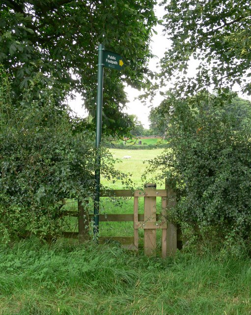 Public Footpath to Illston on the Hill