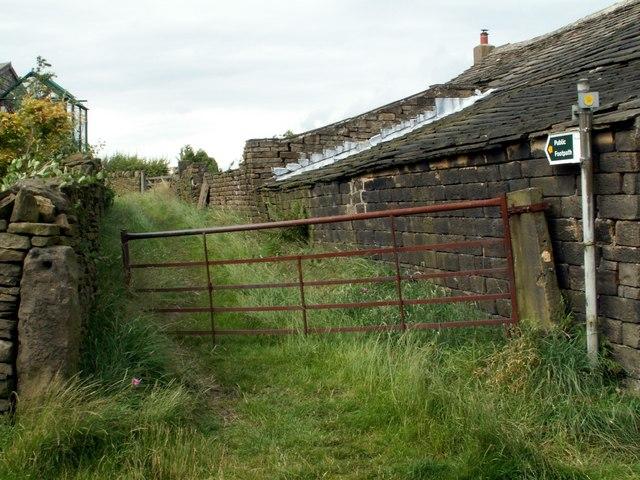 Kirklees Way from Holme