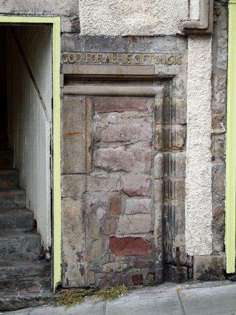 Old doorway on West Bow, Edinburgh