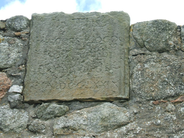 Inscription on Hunter's Lodge
