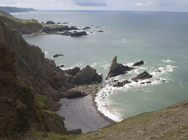 Rocks north of Hartland Quay