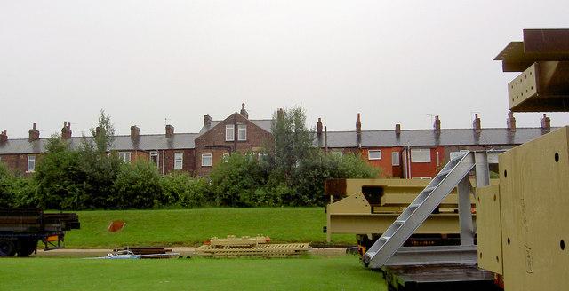 Rear of Aldham cottages.