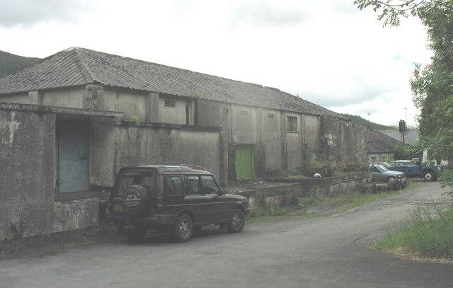Hen hufenfa Fronwydd. The old creamery  at Fronwydd