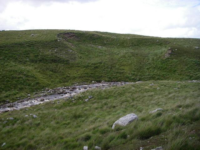 Land slipping into the Gwys Fawr