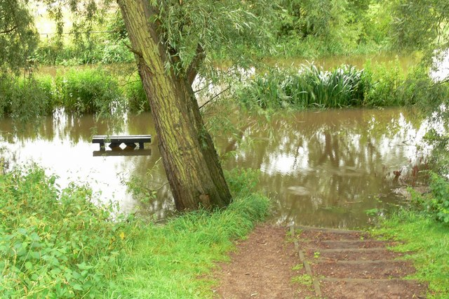 Flooded tow path