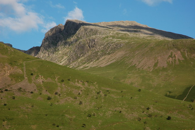 Scafell viewed from the road to the NT campsite