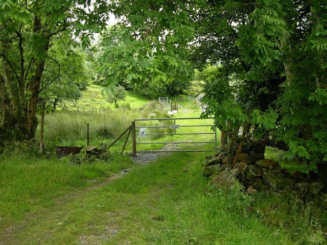 Start of Footpath , Bwlch-coch